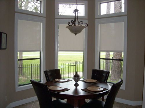 Roller Blinds In The Dining Room