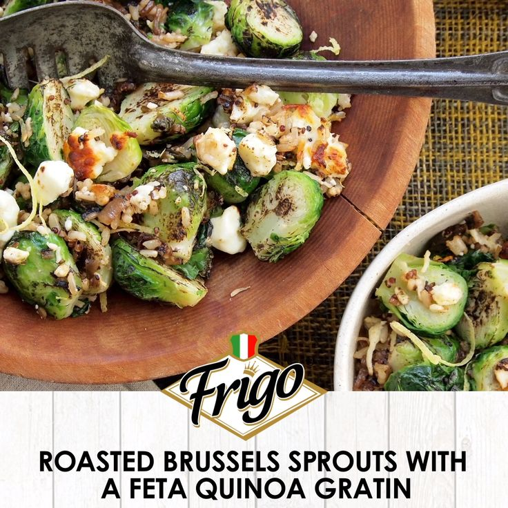 Roasted Brussels Sprouts With A Feta Quinoa Gratin   – Festive Fall Recipes