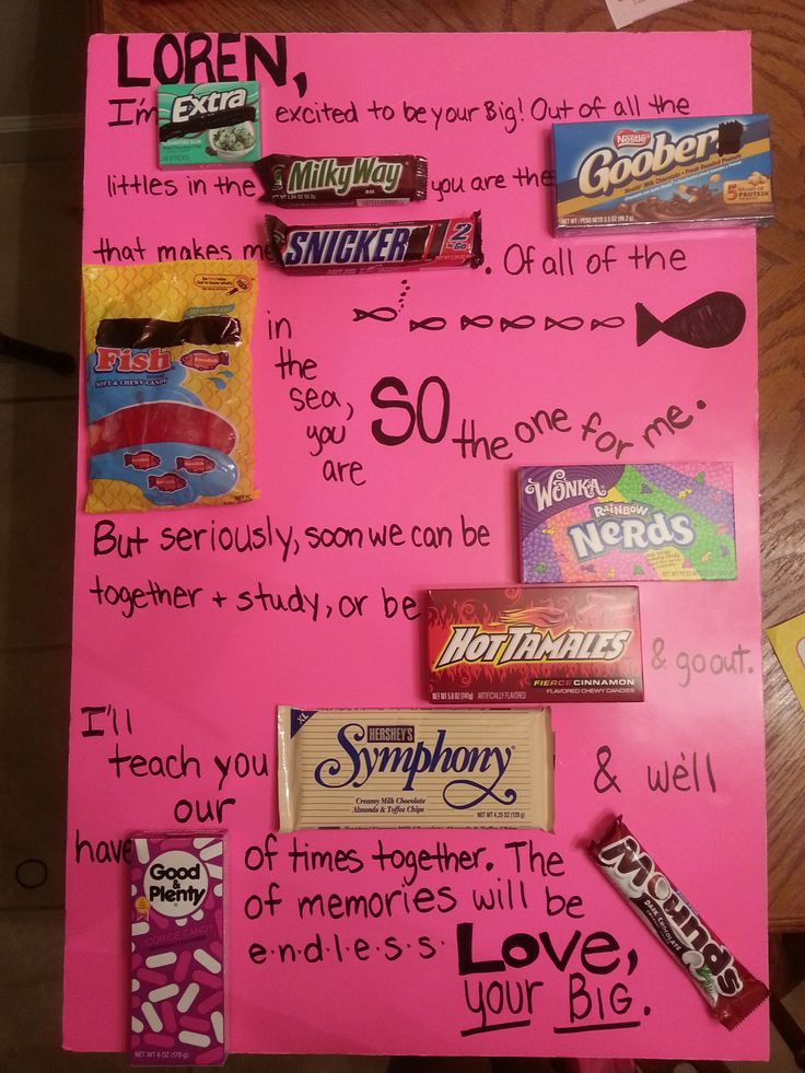 Candy Board Alpha Chi Omega Big Little