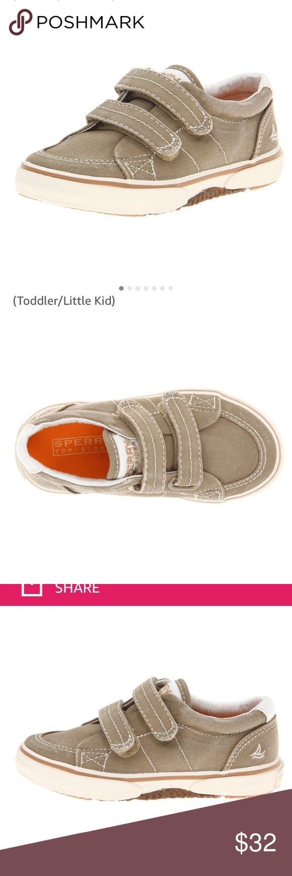 Sperry Top Sider Halyard Toddler Shoes Toddler Boys top slider Haylard H&L Khaki size 6wide. Never worn. New in box. Very cute shoes. Sperry Top-Sider Shoes