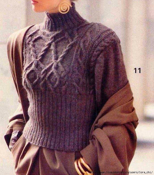 Модели вязания: Пуловеры и свитера