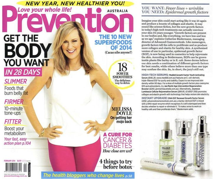 """Jeunesse® LUMINESCE™ is a noted """"anti-ageing miracle worker"""" in a 4-page feature in this month's edition of Prevention Magazine (February 2014 - Circulation: 50,000+)"""