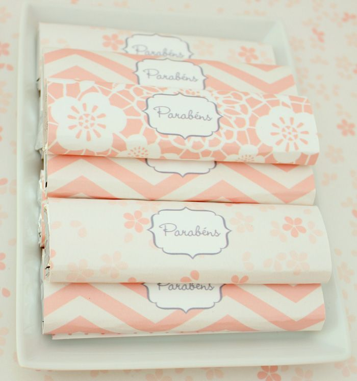 Chocolate bars can be favors for any type of event, change up the wrapper and colors for your event coming up...