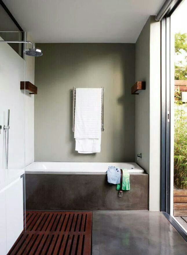 Bathroom with patio