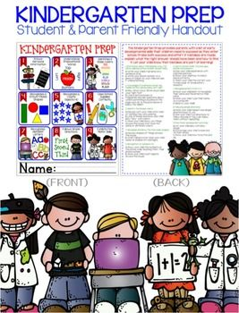 The Kindergarten Prep provides parents with a list of early developmental skills their children need to succeed as they enter school. Handout is perfect to provide at Kindergarten registration or have available at preschools. Handout is designed to be printed front/back on a single page.