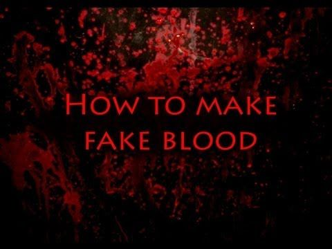how to make fake period blood