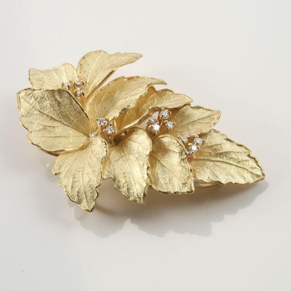 【中古】K18 ダイヤモンド ブローチ/新品同様・極美品・美品の中古ブランド時計を格安で提供いたします。