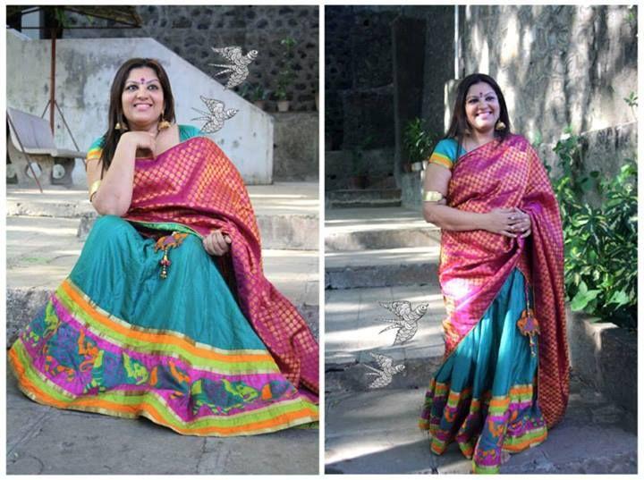 Kanjeevaram Half Saree