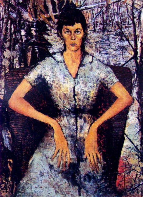 Clifton Pugh ~ Portrait of Marlene, 1958
