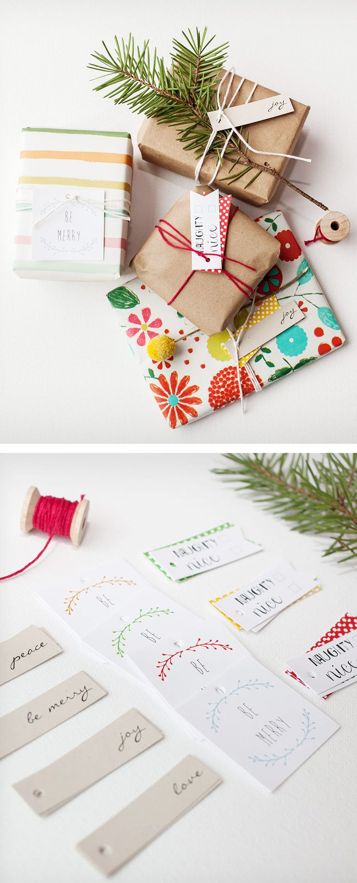 Cute holiday gift wrapping