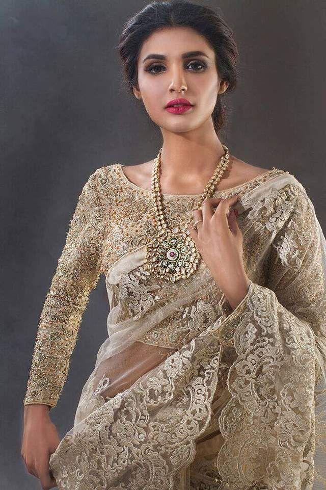 Full sleeves blouse design