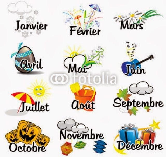 Les mois de l'année, les quatre saisons