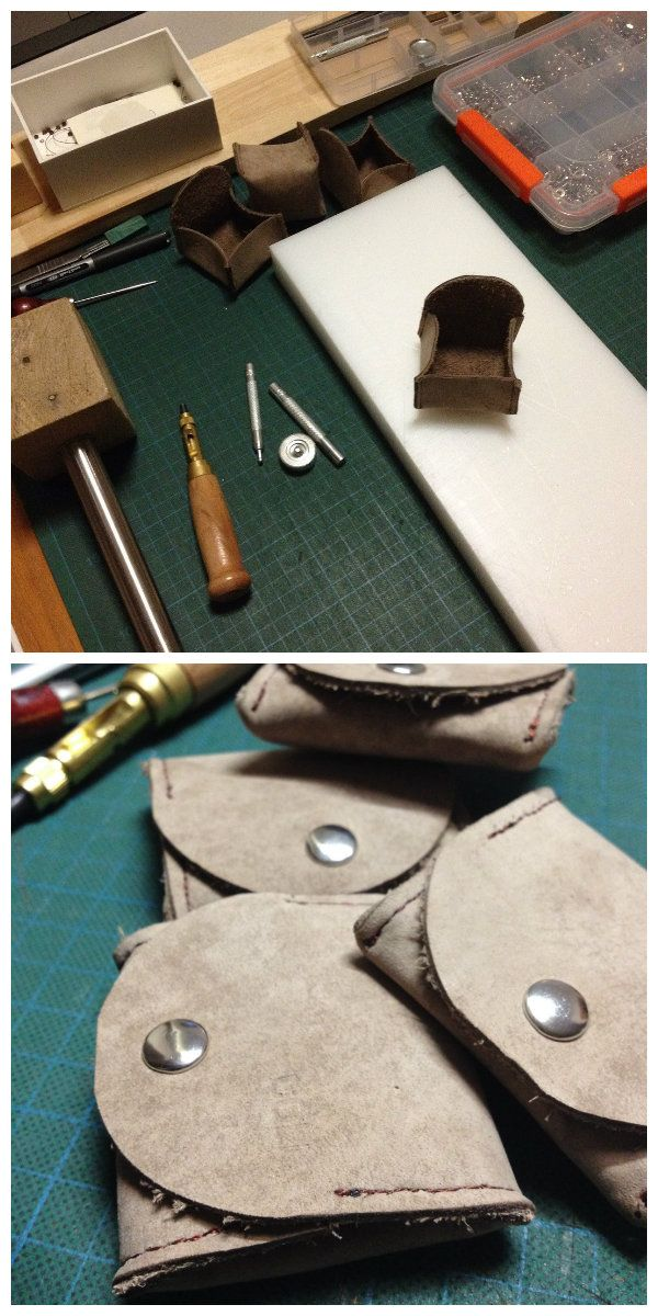 Leather work - coin purse