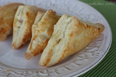Creamy Chicken and Bacon Pastry Pockets. They are as amazing as they sound. Easy to make too.