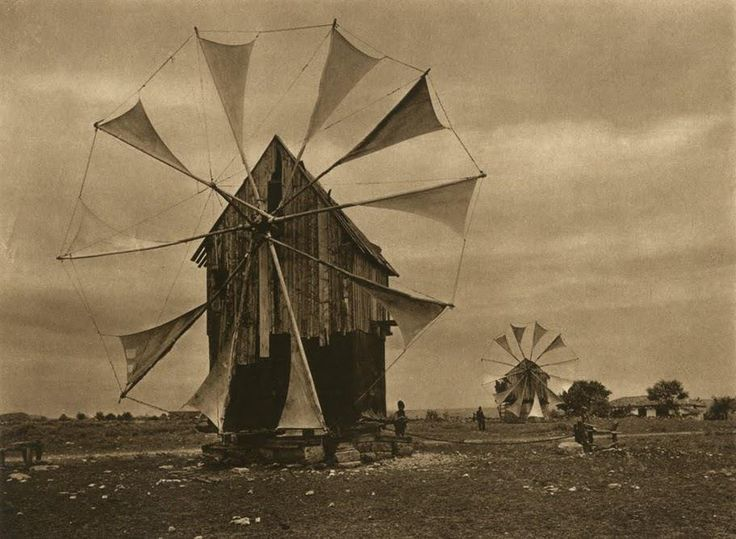 Windmill in dobrogea, Kurt Hielscher
