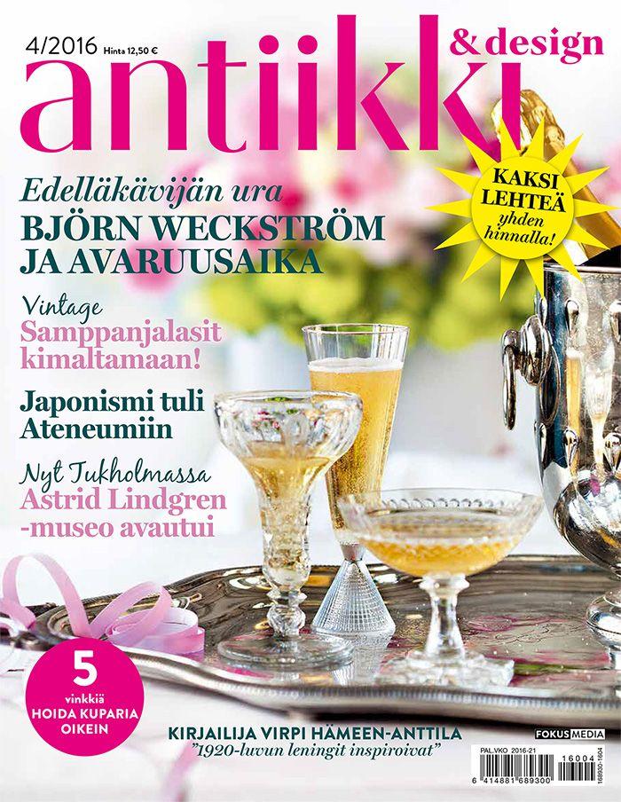 Antiikki & Design 4/2016 kansi. Photo Pia Inberg. Style Irene Wichmann.