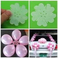 Wish | 10PCS/Set White Plum Clip Tie Filled Helium Air Balloons Wedding Supplies Party Home Decor