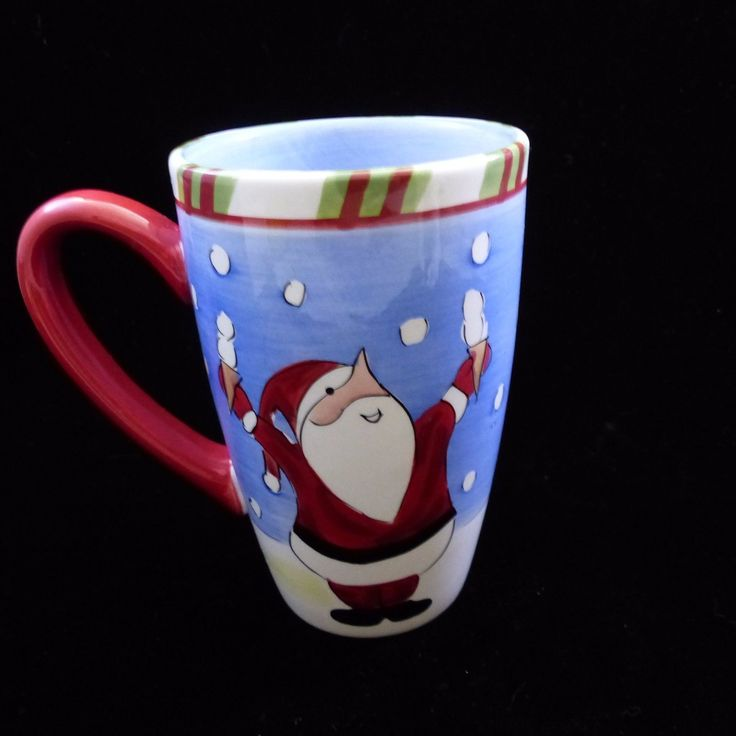 Tabletops Lifestyles Tall Coffee Santa Claus Holiday Christmas Tall Coffee Mug