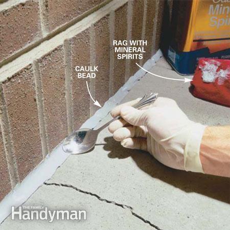 Caulking Concrete Cracks Pinterest Foundation