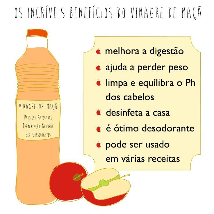 Vinagre de maçã para ajudar a limpar o corpo e a casa!