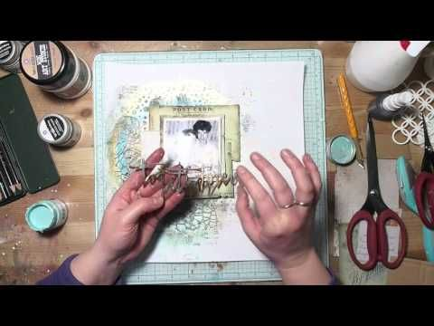 673 best Mixed Media Layout Videos images on Pinterest Scrapbook