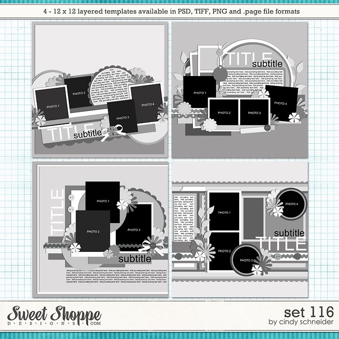 Cindy's Layered Templates - Set 116 by Cindy Schneider