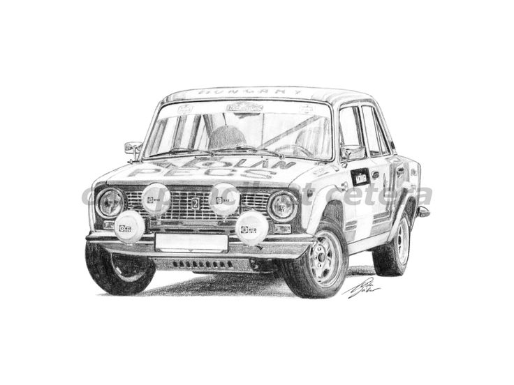 Lada Vaz 21011 Group 2 Poster By Gabor Vida. Automotive Art ...