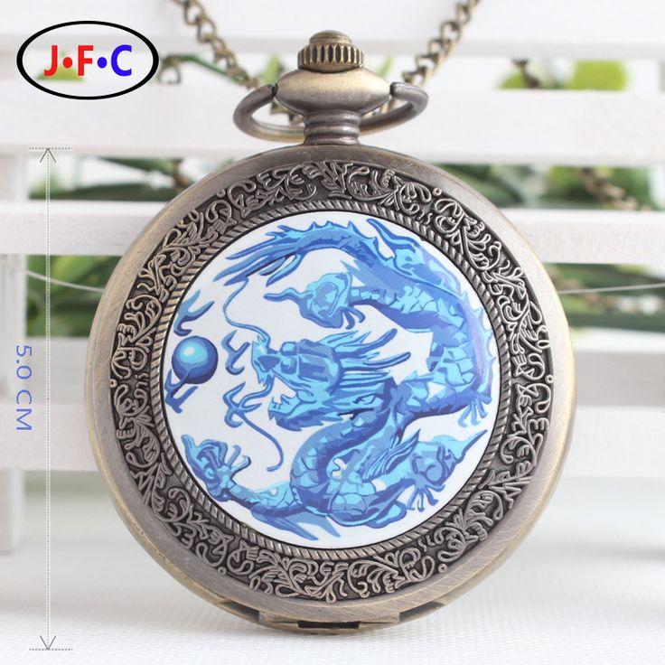 Vintage Enamel quartz watch Large Dragon Pearl Flip classic folk style pocket watch ms.man table DS053