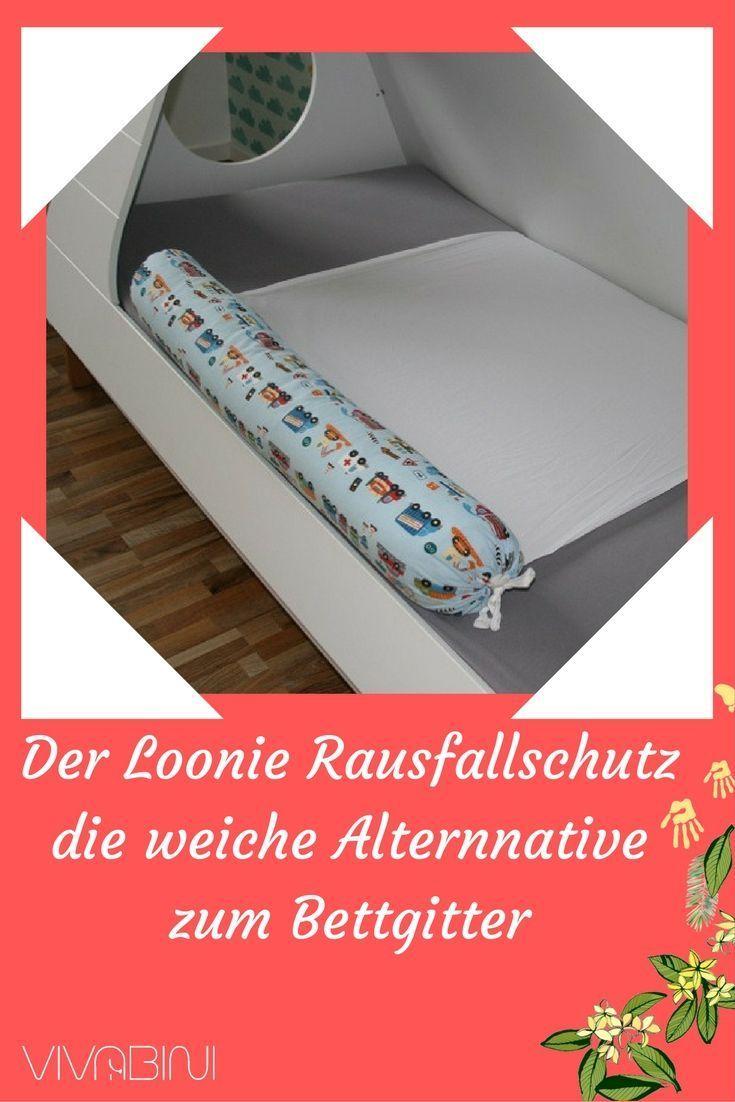 Der Loonie Rausfallschutz als echte Alternative zum Bettschutzgitter beim Umzug vom Babybett ins Jungendbett.