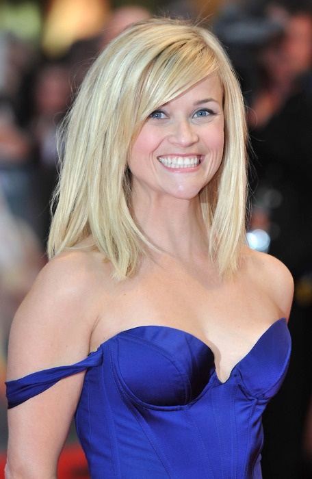 hair length & side bangs  Reese - I wonder if this style would look good on me?