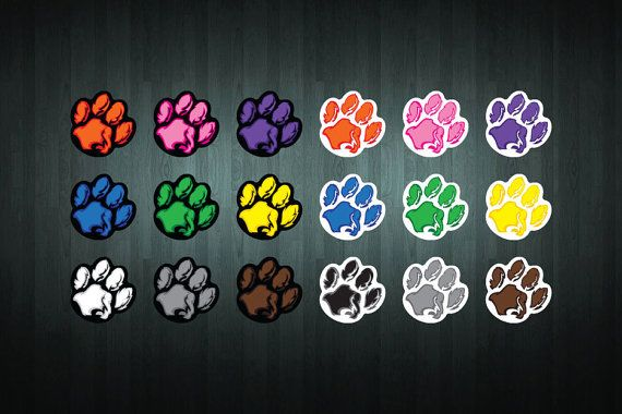 This listing is for ONE brand new 75x75mm paw print sticker/decal, created by Doozi.
