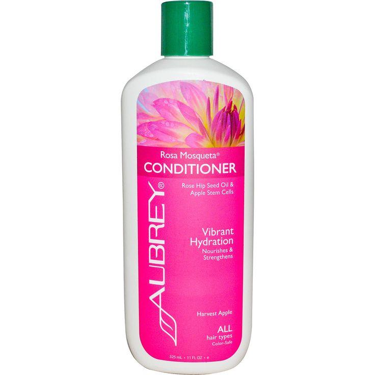 Aubrey Organics, Rosa Mosqueta Conditioner, Vibrant Hydration, All Hair Types, 11 fl oz (325 ml) - iHerb.com