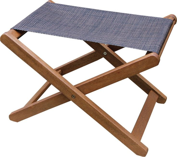 The sun is shining, the pool is cool, and your garden is in full bloom - what could be better than a summer day spent outside? This stylish sling ottoman might just be the ticket! Crafted of eucalyptus wood, its cross base foundation and sling are weather-resistant to stand up to damage from light and rain. Bring it over to your patio seating ensemble so you can kick your feet up while enjoying a minty mojito, lovely along with a floral-printed rug laying out on the floor below for tropical…