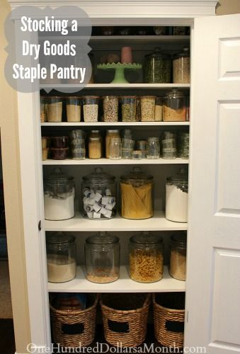 Stocking a Dry Goods Staple Pantry -- I get a lot of questions about how to start cooking from scratch, and what to have on hand in your pantry/kitchen.  Cooking from scratch requires an inventory of basic items that you will use over and over again in a lot of your recipes, in addition to...