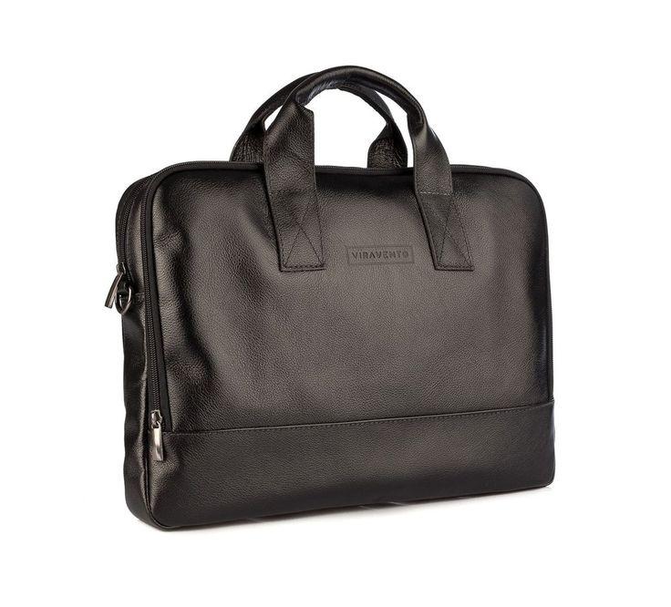 Pasta masculina executiva Basic em couro legítimo preta - Enluaze Loja Virtual | Bolsas, mochilas e pastas