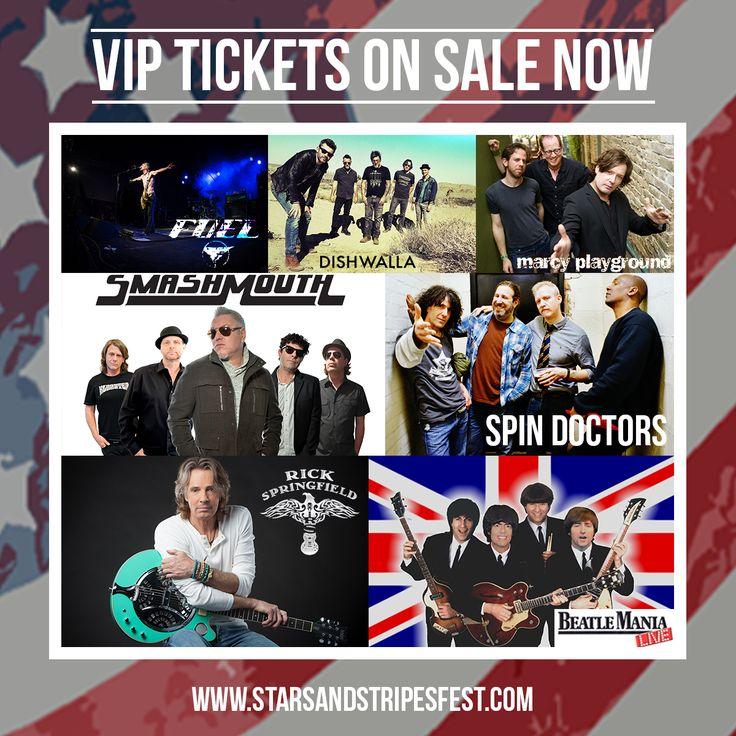 Get your VIP Tickets for the Stars & Stripes Festival in Novi, MI June 29-July 2 at www.starsandstripesfest.com!