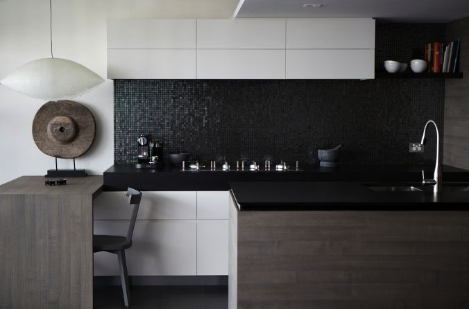 I am going to use the overhead cupboards here as inspiration for our storage. Hare + Klein | Interior Designers