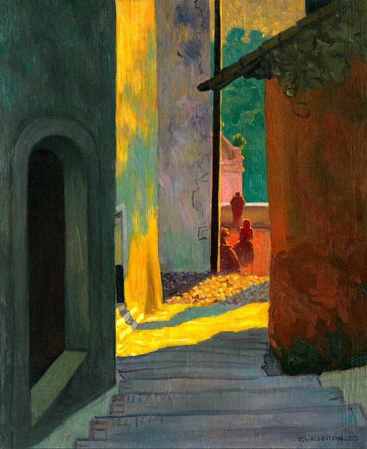 Vieille rue de Cagnes au soleil couchant : Félix Vallotton, 1920