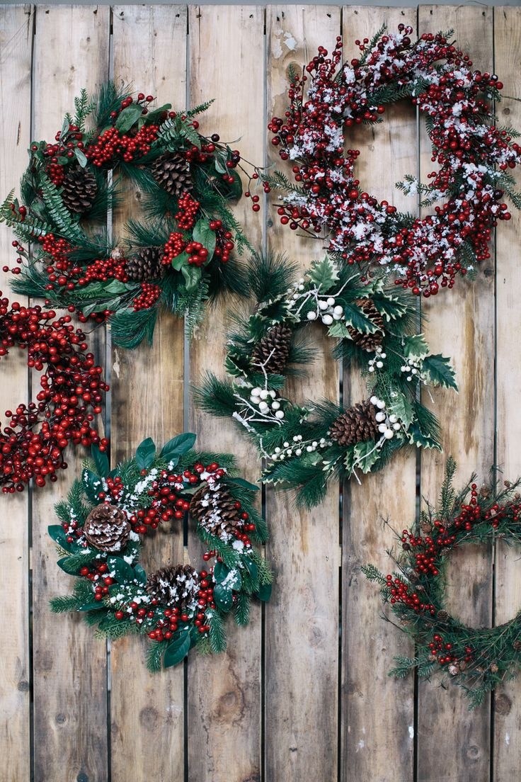 Shop our stunning collection of wreaths and garlands to set a jolly and welcoming tone to your home!