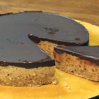 The Happy Pear's Healthier chocolate & salted caramel tart