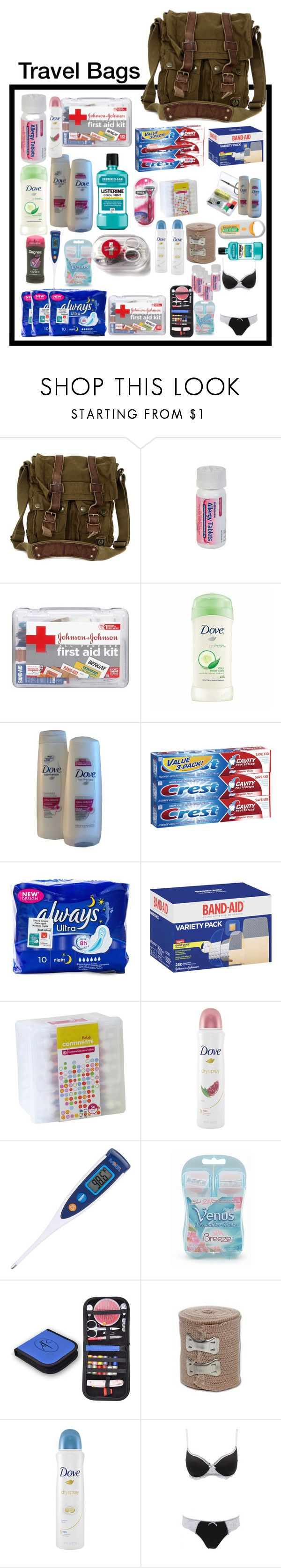 """""""Bag One"""" by yellowandpinkbunny ❤ liked on Polyvore featuring Belstaff, Therapy, Schick, Bebe, Dove, Gillette and Charlotte Russe"""