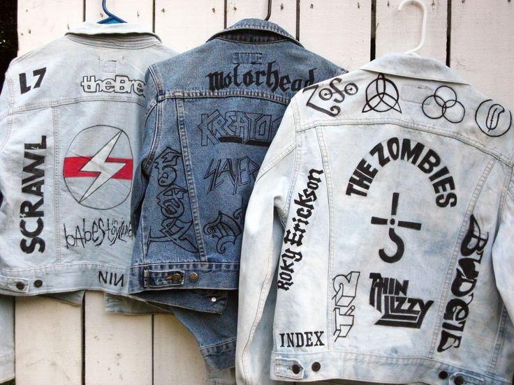 Custom Jean Jackets with Hand Drawn Logos