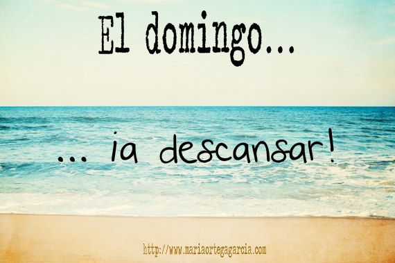 ¡Feliz domingo a todos! El domingo ... a descansar! #learnspanish #ele