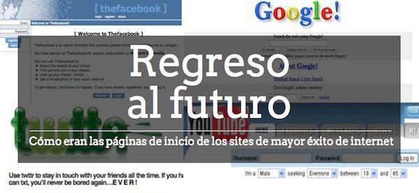 Hoy te enseñamos cómo eran las páginas de inicio de los sites de mayor éxito de Internet. #facebook #google #twitter #youtube #yahoo #myspace #amazon aldeavillana.com