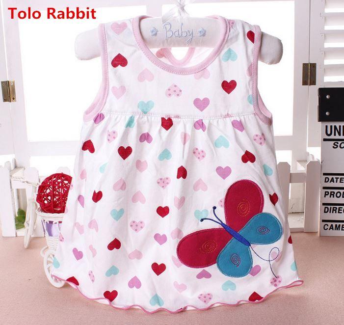 Tolo rabbit vestidos del bebé de calidad superior 2017 de la princesa girls dress algodón 0-2years ropa dress summer girls ropa de bajo precio