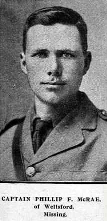 Captain Phillip Felton McRae Wellsford, New Zealand Rifle Brigade, 2nd Battalion AWMM KIA