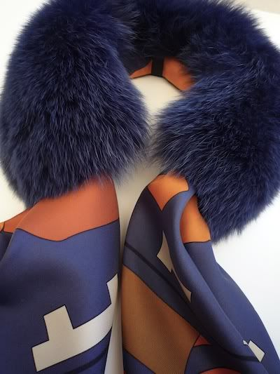 MaiTai Collection: Bleu Indigo fur with scarf.