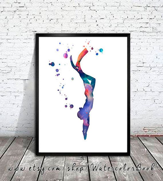 He encontrado este interesante anuncio de Etsy en https://www.etsy.com/es/listing/251895400/scuba-diving-2-watercolor-painting-print