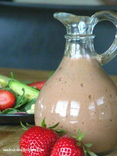 Roasted Strawberry vinegarette. Only roast the strawberries for 15 mins. I used fini balsamic vinegar. Tastes almost creamy… Very good! *** virgin diet***.