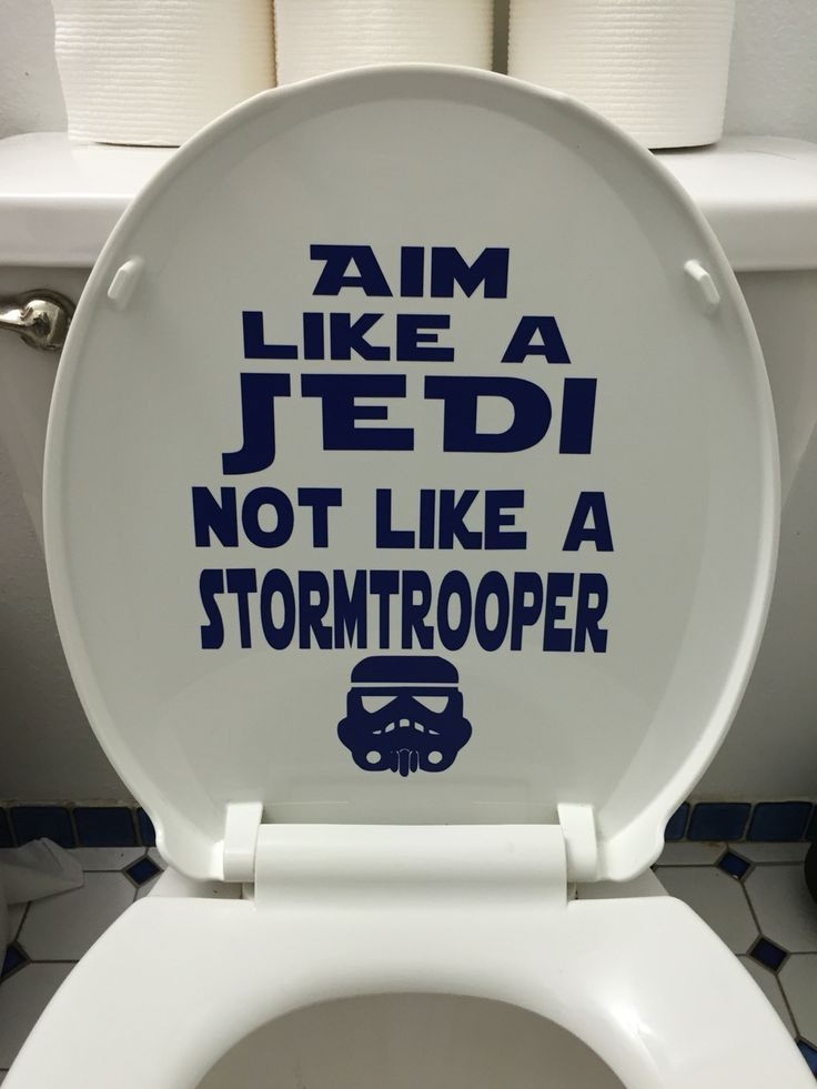 Star Wars bathroom humor decal funny stormtrooper